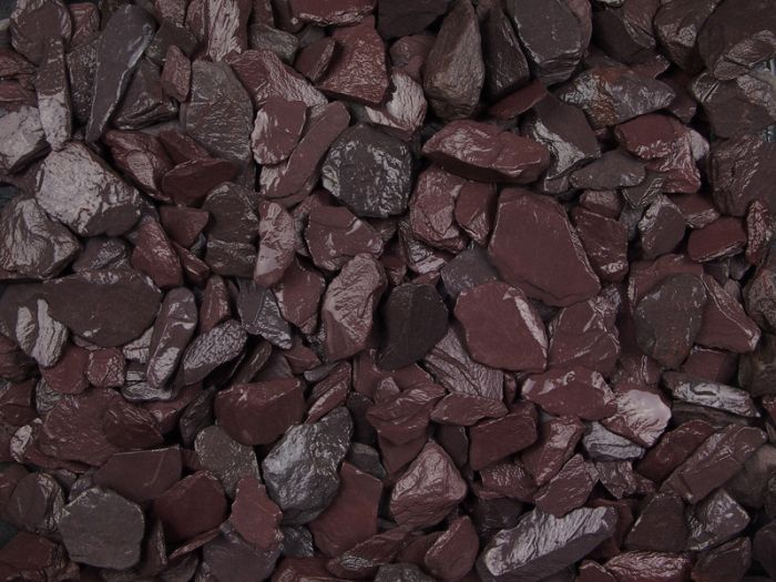 Close up of plum slate chippings