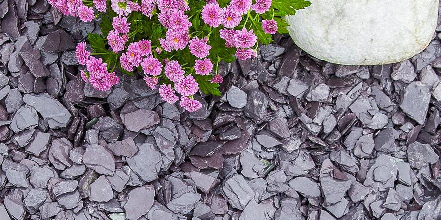 Bags Plum Slate Decorative Chips Chippings Pebbles Garden Purple
