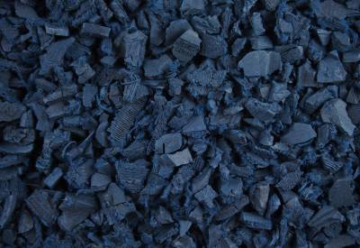 Blue Rubber Playground Chippings