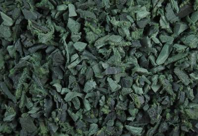 Green Rubber Landscaping Chippings