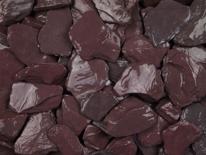 Close up shot of plum slate chippings